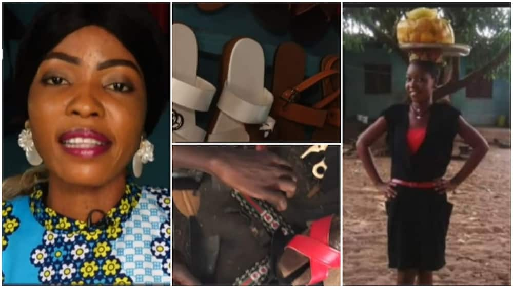 Nigerian lady who once hawked becomes professional shoemaker, plans to build her own university