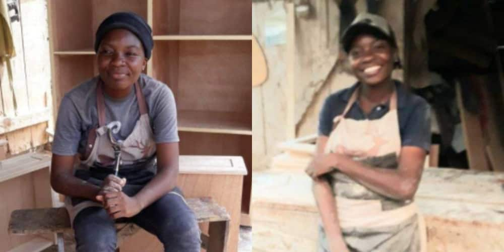 PHOTOS: Meet the young lady carpenter making massive waves in a 'man's world'