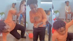Shatta Wale's son Majesty makes dance moves in new video rolling on the floor; fans can't stop laughing