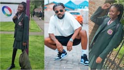 Samini shows off his tall and smart daughter as she begins studies at top UK school; drops photos
