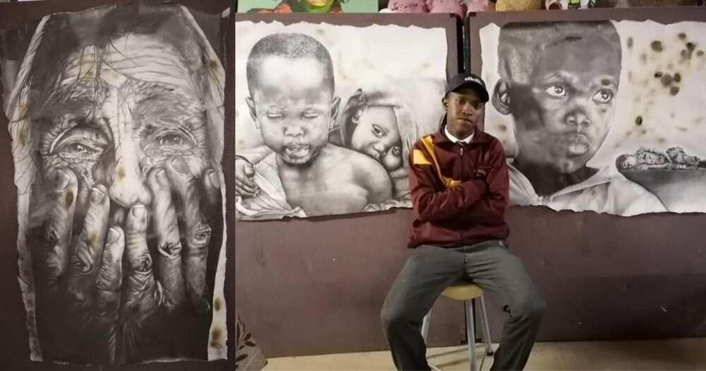 Teacher, student, goes viral for art EXPORT