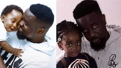 Sarkodie's son grows tall and looks just like him in latest photo; twins with dad and Titi