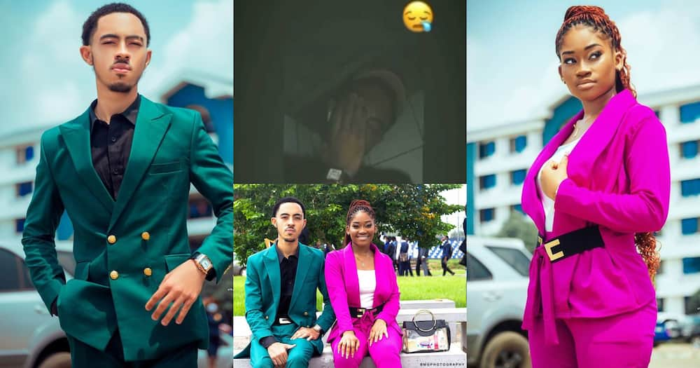 Afia Schwar's Son James Ian Shows Signs Of Broken Heart After His Mother 'Sacked' His Girfriend (Video)