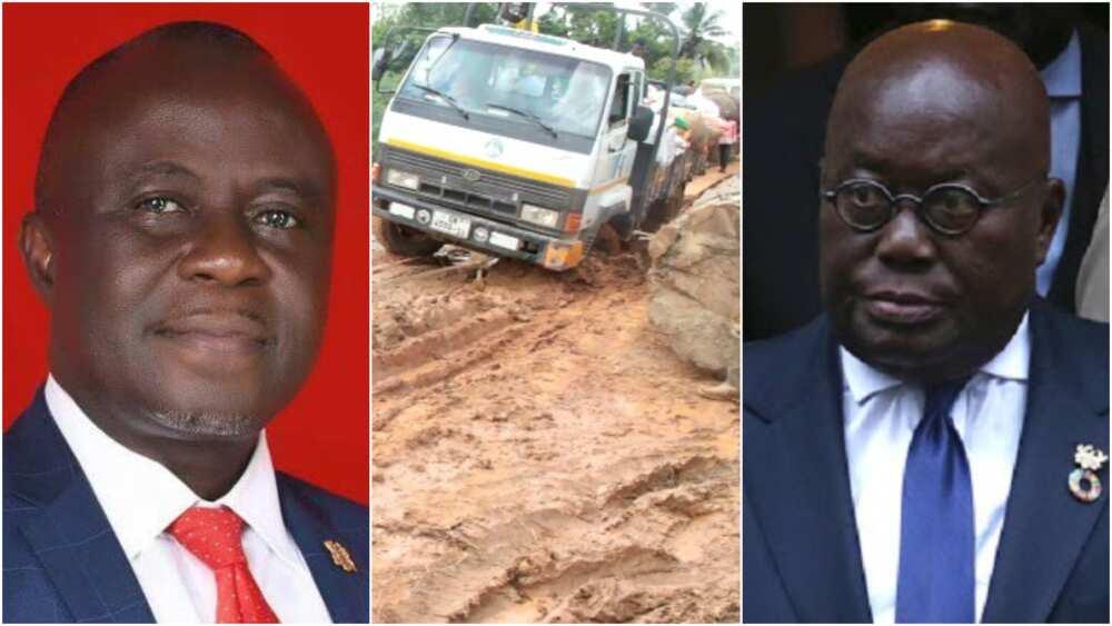 NPP MP threatens to resign should Akufo-Addo fail to fix bad roads