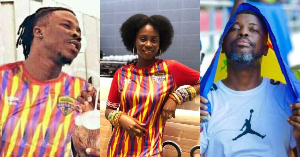 Hearts Vs Kotoko: Afia Schwar, A-Plus, Sefa Kayi, Bernard Avle And Other Famous Hearts Supporters