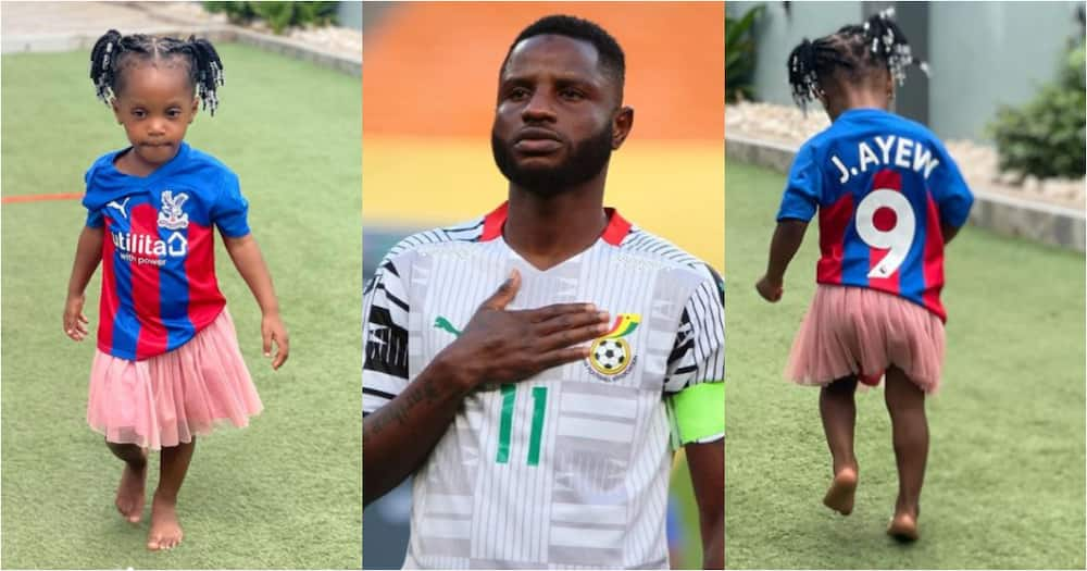 When you are in love with your photocopy - Mubarak Wakaso flaunts all-grown daughter in new photo