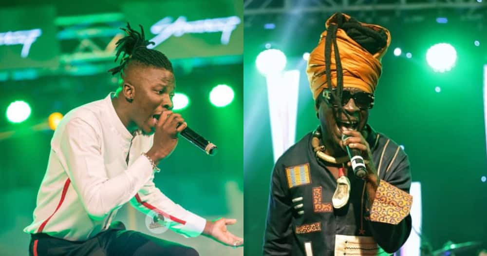 Kojo Antwi makes surprise appearance at Stonebwoy's virtual concert; photos pop up
