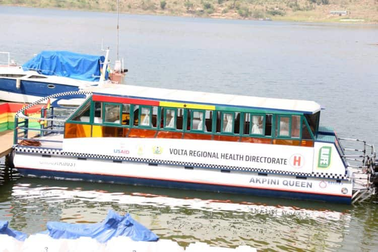 Ghana Health Service gets new boat to deliver healthcare in hard to reach communities