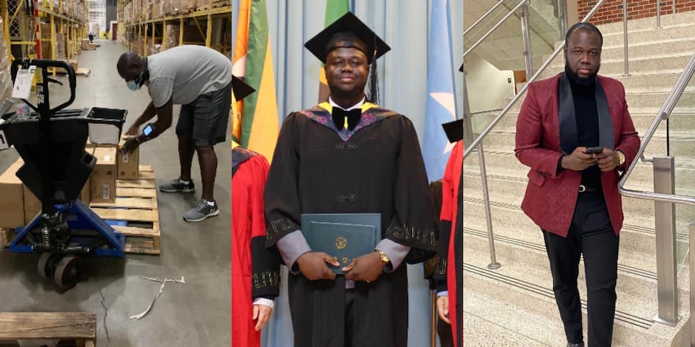 Meet Ghanaian Uber driver, TA & truck unloader who graduated with 3.72 GPA