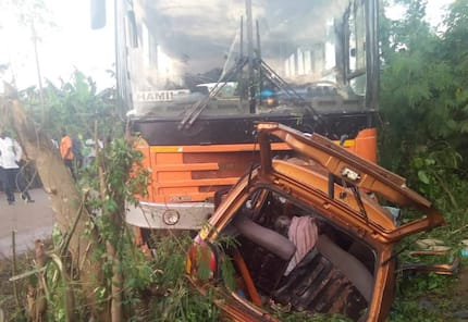 Six die as Metro Mass bus collides with taxi on Sunyani-Techiman road
