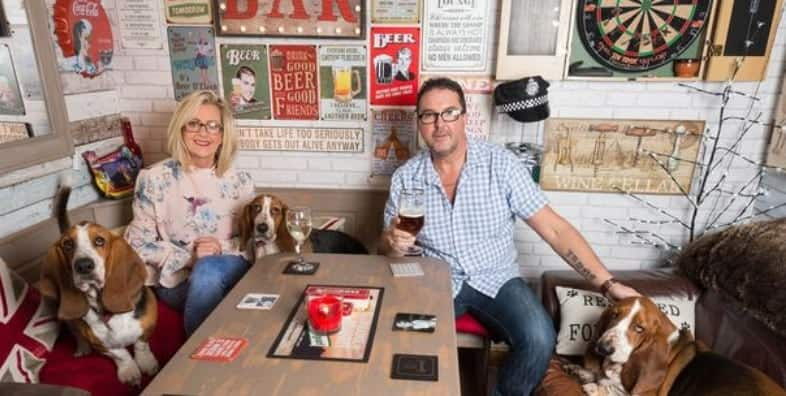 Woman builds bar in their garden to stop husband from drinking outside