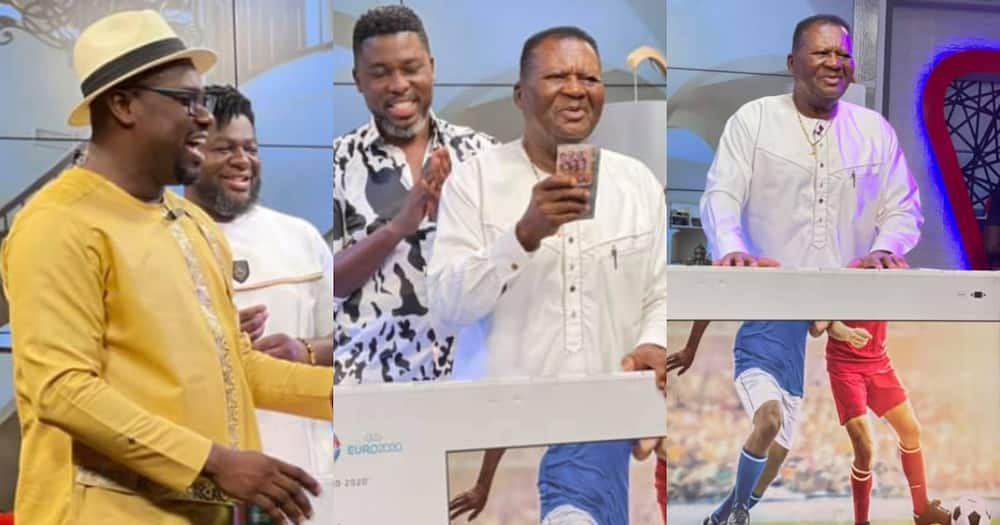 Despite Media Honours AB Crentsil with GHc10K, 65-Inch TV and Fridge; Photos, Video Pop Up