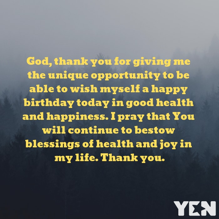 Birthday Prayer For Myself