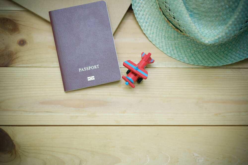 passport on table