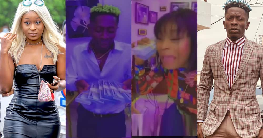 Shatta Wale gives Efia Odo $50k (GHC288k) as birthday gift (video)