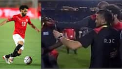 DR Congo players perform unbelievable thing with Salah after loss to Egypt in AFCON 2019