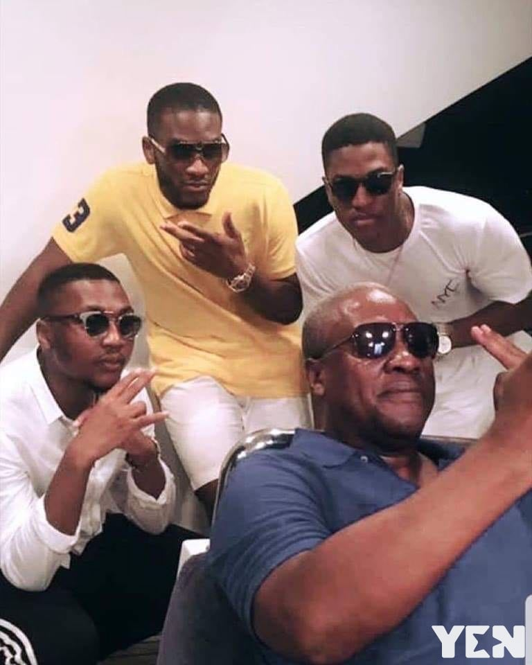 John Mahama and his three sons break the internet as they display the 'kupe' sign