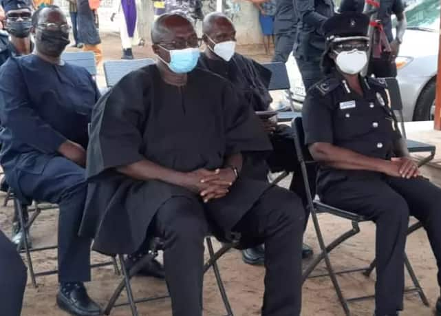 Father of policeman killed in bullion van attack breaks down in tears at son's burial, sad photos emerge