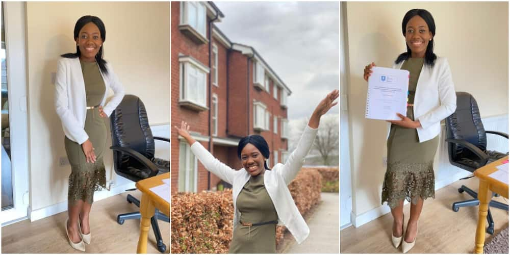 Woman celebrates bagging PhD, shares adorable photos as she thanks those who made it possible