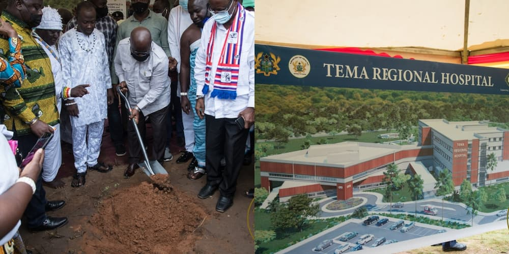 Akufo-Addo cuts sod for 40-bed Kpone and 400-bed Tema regional hospitals