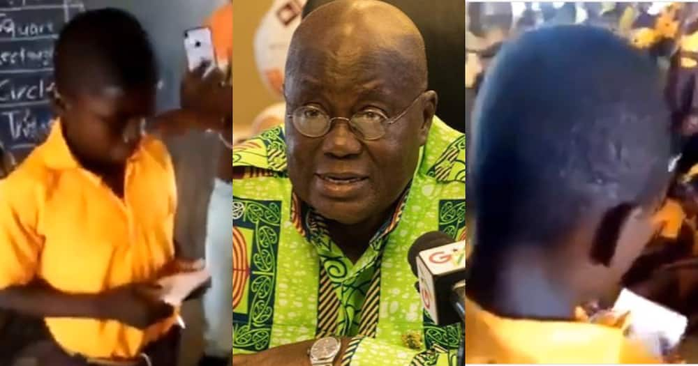 School boy Reads Manifesto to Become Prefect; says he won't be like Akufo-Addo who Promises and Fails
