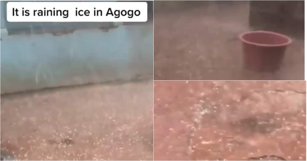 A/R: 'Ice Pellets' Reportedly Falls During Downpour At Agogo On Hot Afternoon; Video Drops