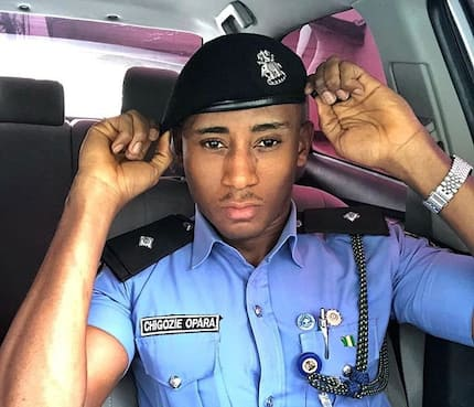 Wild photos of man said to be the most handsome police officer in Nigeria go viral