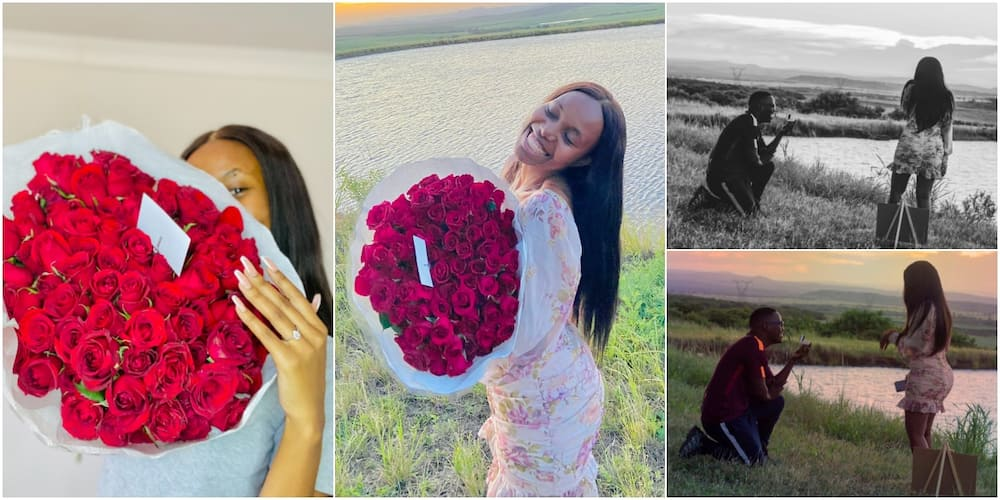 Lady shares adorable photos online after getting engaged to best friend