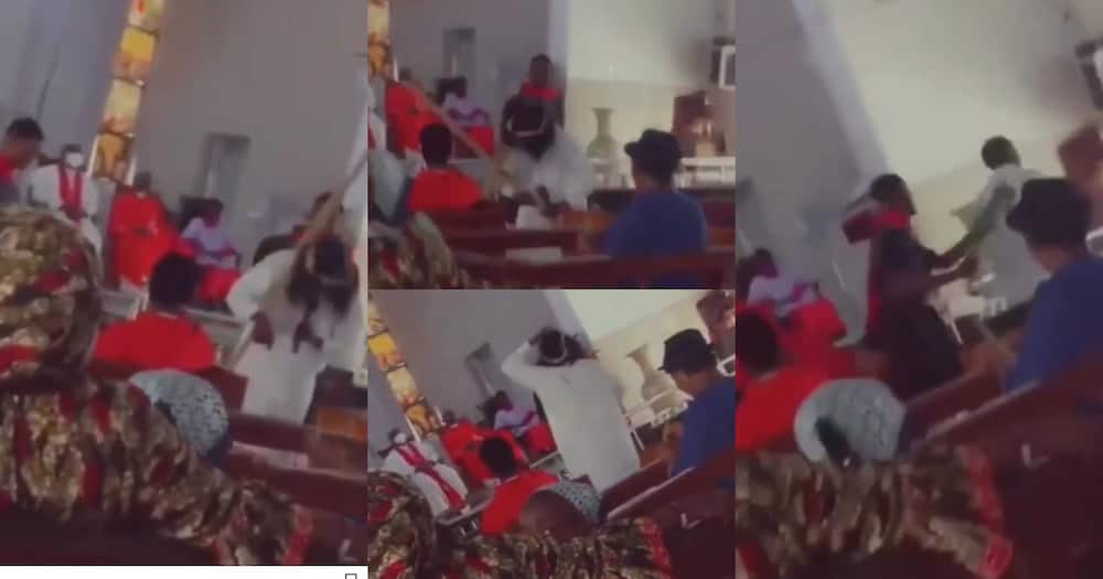 Man Acting As Jesus In Church Play Angrily Walks Off Stage After Being Lashed Too Hard; Funny Video Drops