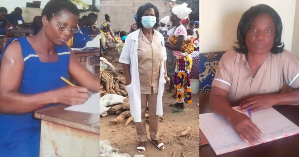 Felicitas Naa: Gh Mom of 3 who Completed JHS at 41 now Environmental Health Assistant at 55