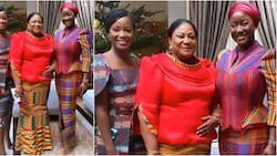 'Kaba and slit' of Akufo-Addo's wife and daughters at his inauguration confuses Ghanaians (photo)