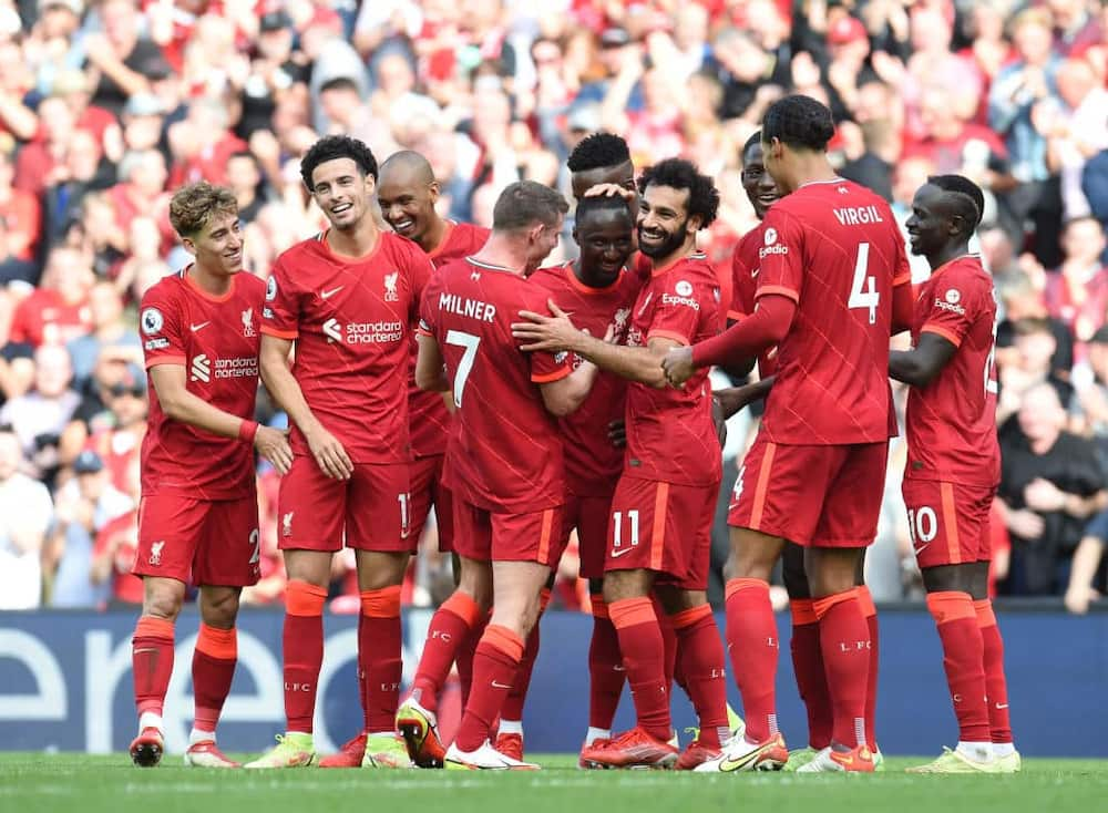 Salah, Mane score as Liverpool thrash Crystal Palace to occupy EPL summit
