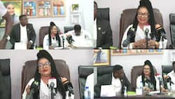 Nana Agradaa copies Akuapem Poloo as she holds a dramatic press conference after being 'freed'