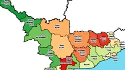 A list of districts in the Central Region and their capitals