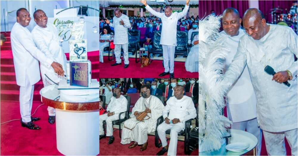 Rev Steve & Stanley Mensah: Identical Ghanaian twin pastors mark 60th birthday, photos pop up