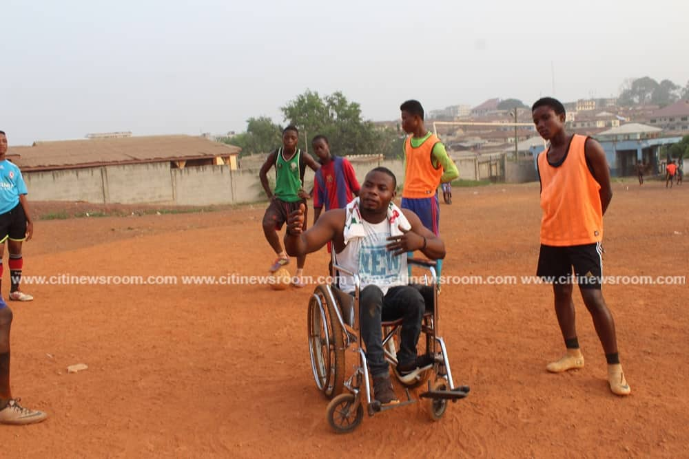 Story of Coach Sympathy who lost his legs at age 9 until Nana Ama McBrown 'saved' him (Photos, Video)