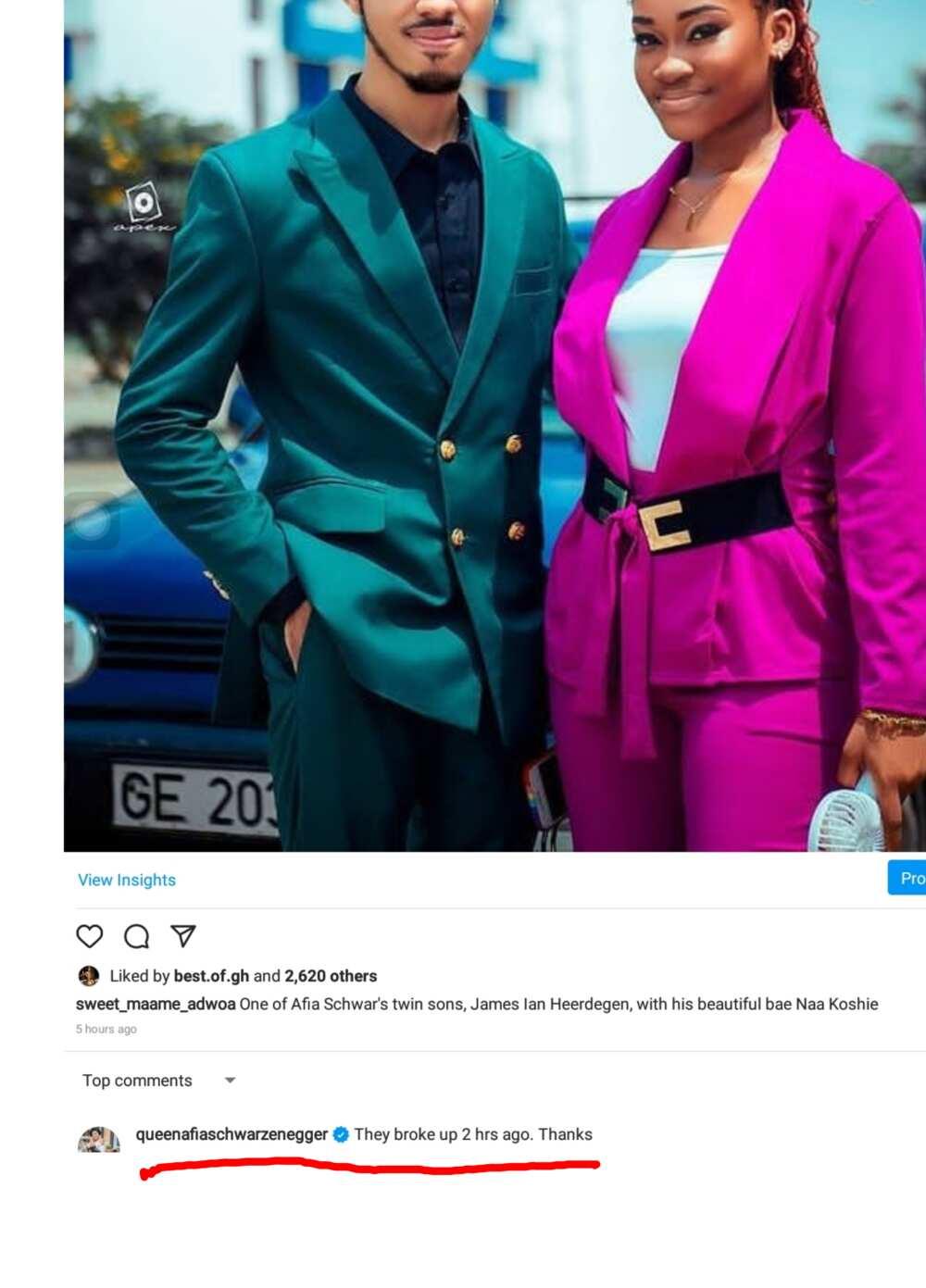 Afia Schwar's Twin Son James Ian Heerdegen And Girlfriend Break Up After Viral Bedroom Photo