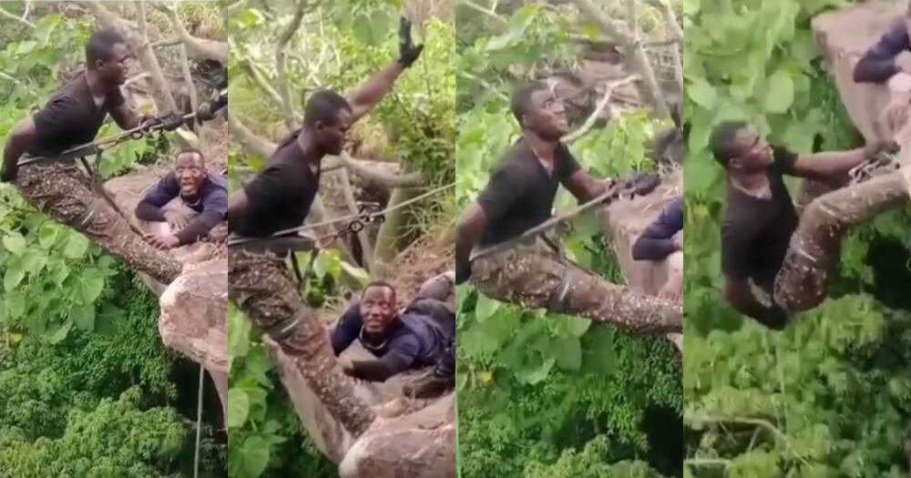 Video of 'fearo' security personnel going through rapel training cracks ribs online
