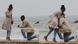 Photographer on tour spots unknown couple's proposal from afar & captures sweet moment