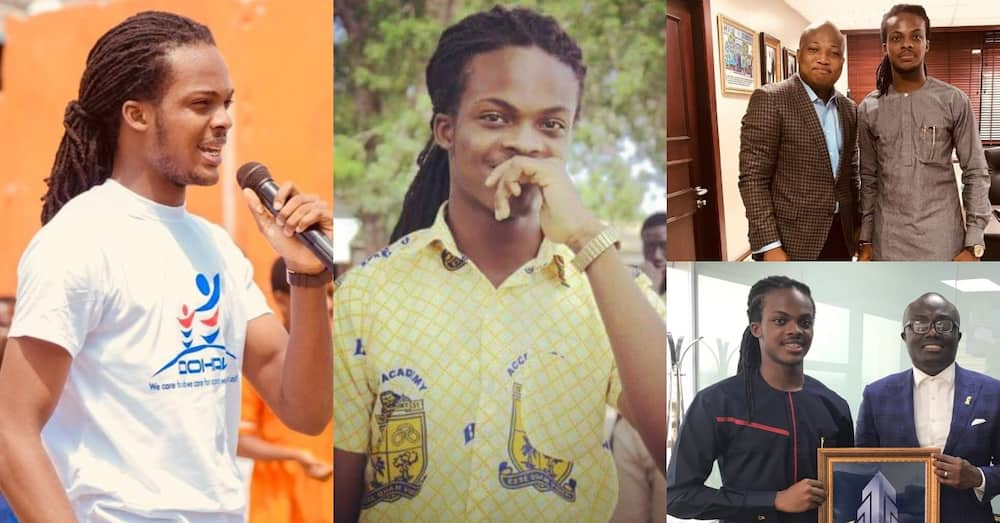 Meet the former Accra Aca student with dreadlocks who is changing lives after school