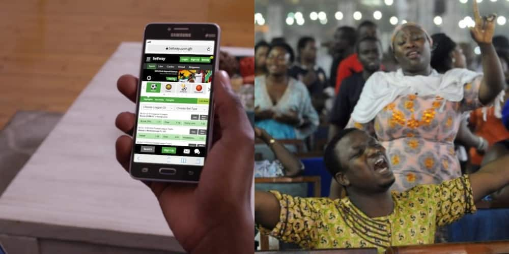 Man recorded in video doing sports betting on his phone during worship at church