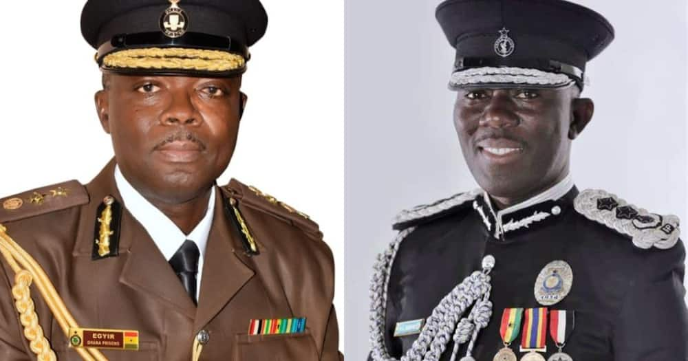 Akufo Dampare begins work as IGP Police service, Egyir as Director-General of Prisons service