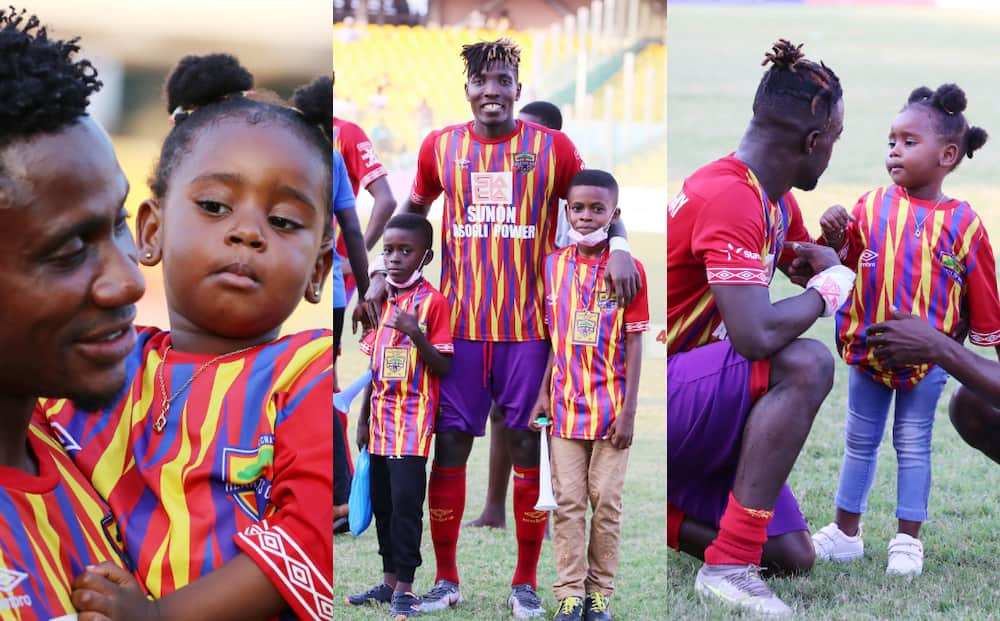 Adorable photos of Hearts players celebrating league triumph with their kids pops up