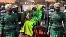 Video and photo of what Samira Bawumia wore for the inauguartion of Akufo-Addo and her husband