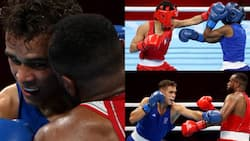 Tokyo 2020: Moroccan boxer Youness Baalla disqualified after he attempted to bite opponent's ear