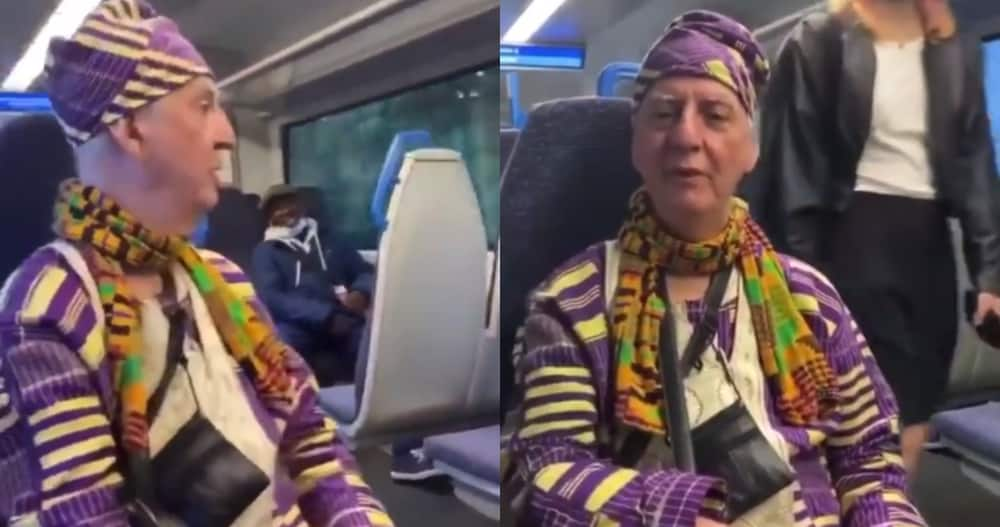 White man in London captured in video speaking Twi fluently; says he left Ghana in 1988