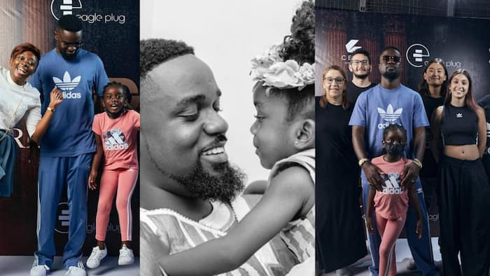 Sarkodie's daughter supports him at album listening session; photos pop up