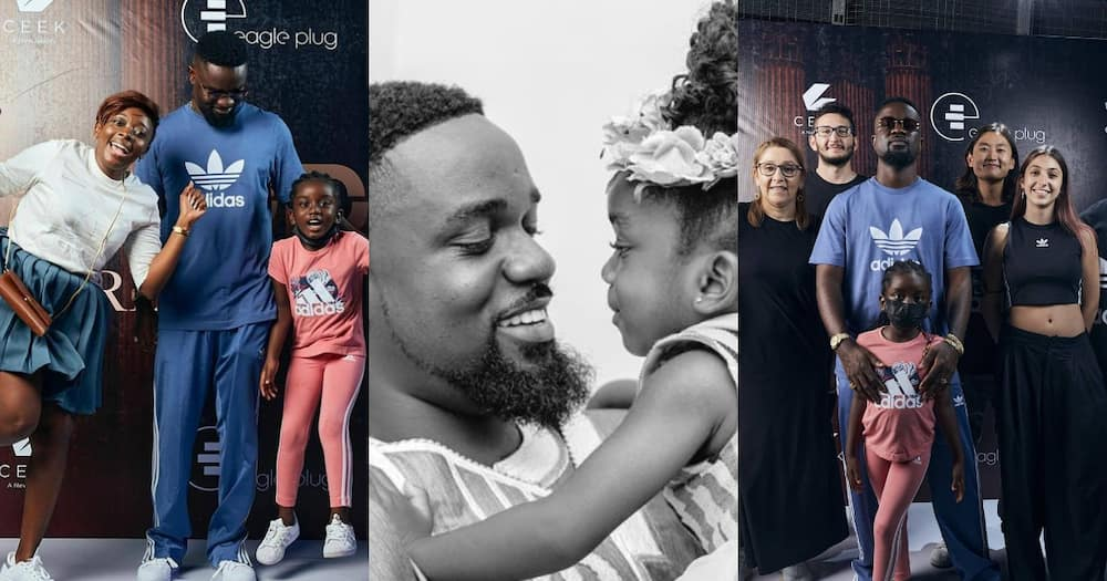 Sarkodie's daughter supports him at his album listening session; photos pop up