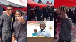 Video drops as Medikal, Kinaata, DopeNation, other stars storm funeral of Quamina MP's father at Mankessim