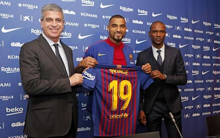 Beautiful photos and video drop as Kevin-Prince Boateng unveiled by Barcelona